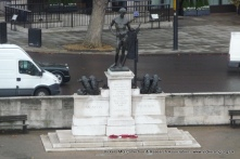 View of the Machine Gun Corps Memorial from the top of Wellington Arch