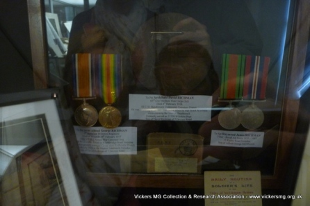 Medals of a Swindon member of the Machine Gun Corps who was killed.