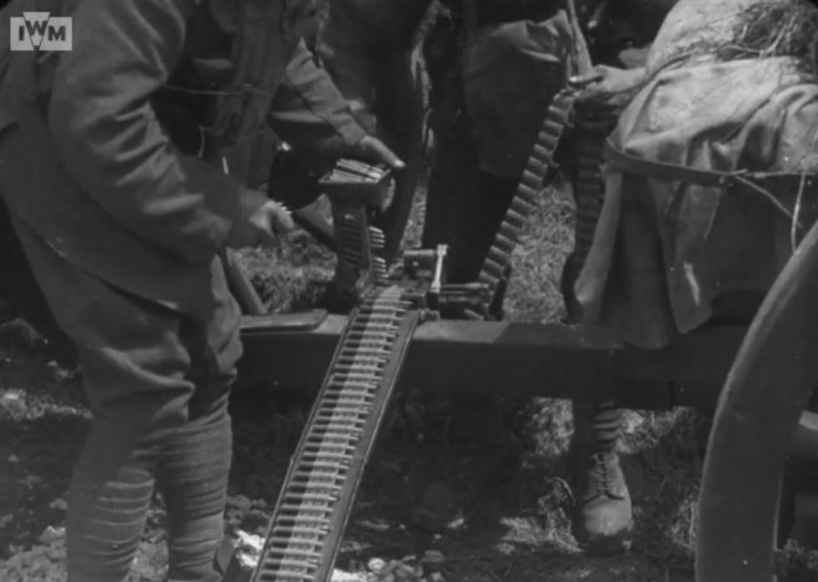From Imperial War Museum film 243, still at 1min 43secs.